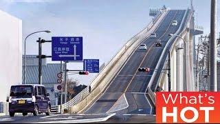 Japans crazy rollercoaster bridge Eshima Ohashi