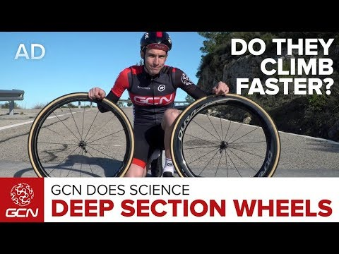 Do Deep Section Wheels Climb Faster?   GCN Does Science