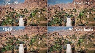 Xbox One X versus PS4 Pro, PC & X1 bei Assassin