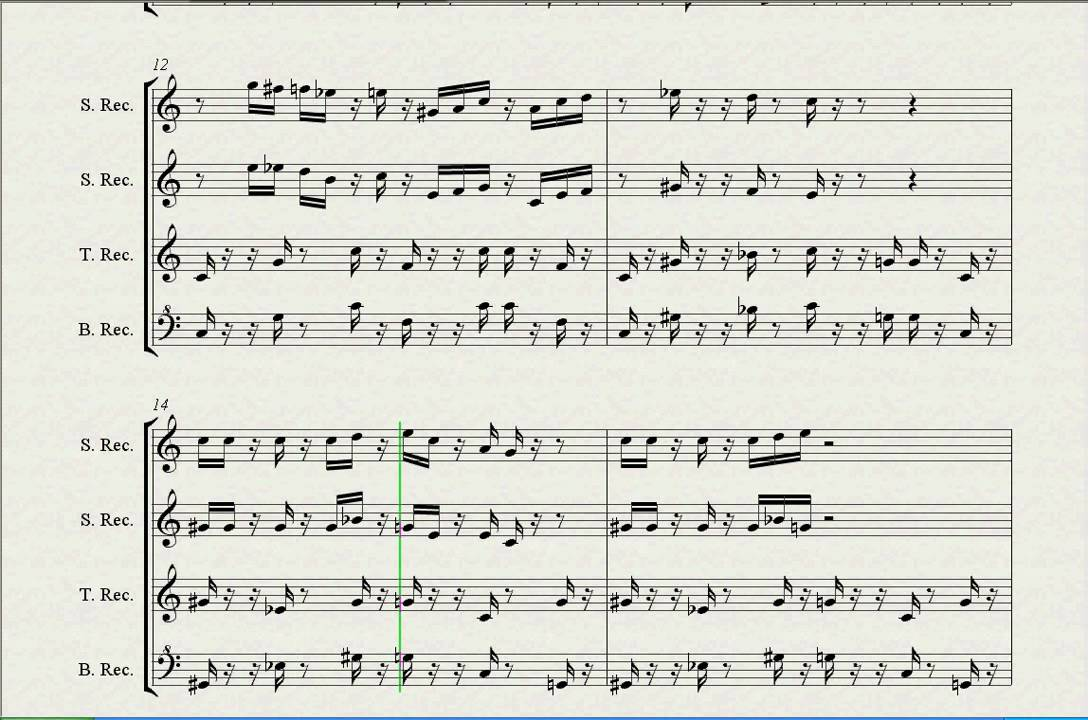 Sheet music Super Mario For Recorder flute (S,S,T,B) - YouTube
