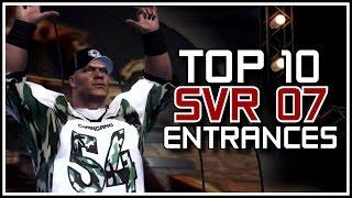 "Top 10 ""WWE Smackdown vs RAW 2007"" Entrances! (History Of WWEGames Countdowns)"