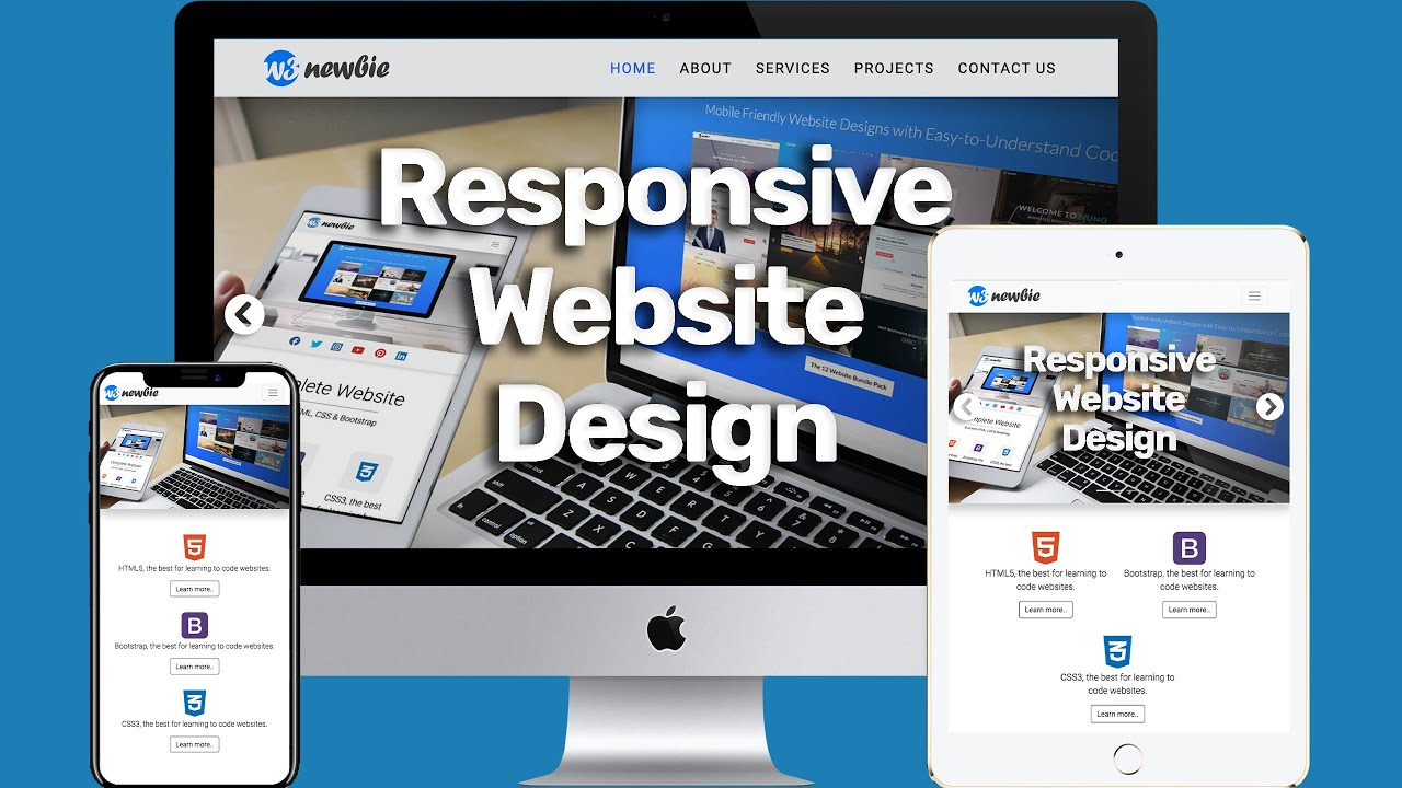 Build A Responsive Website with HTML5, CSS3 & Bootstrap 4