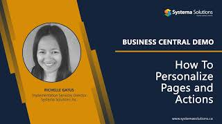 How to Personalize Pages and Actions in Business Central