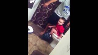 Baby Afraid of Flushing Toilet