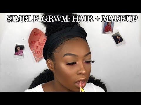 Random GRWM: Hair + Makeup | Date Night Makeup | Makeup for Black Women | Lovevinni_