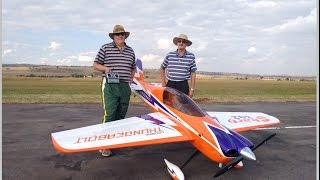 Maiden Flight of a Huge 40% 170cc SBACH 342 at IRF (720HD)