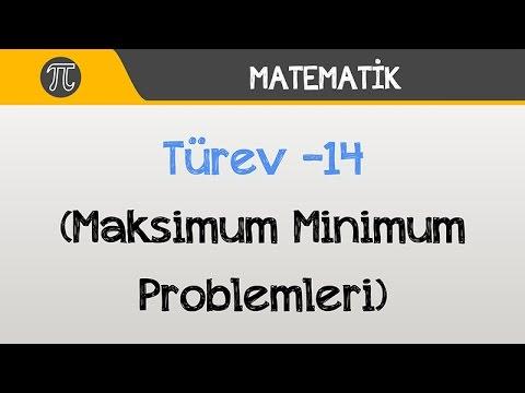 Türev -14 (Maksimum Minimum Problemleri) | Matematik | Hocalara Geldik