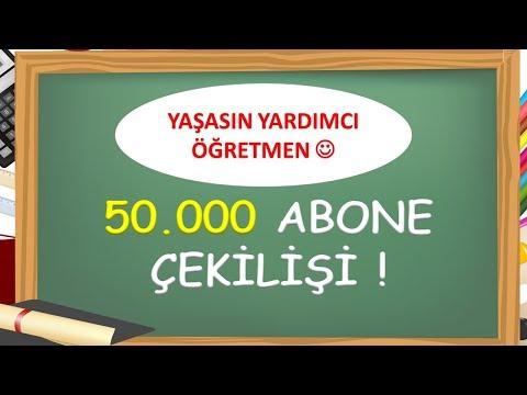 50.000 ABONE ÇEKİLİŞİNE NASIL KATILACAĞIZ? -Yardımcı Öğretmen