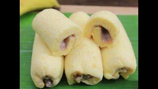 Hướng dẫn cách làm bánh chuối cuộn Nhật Bản Banana roll cake ngon hấp dẫn