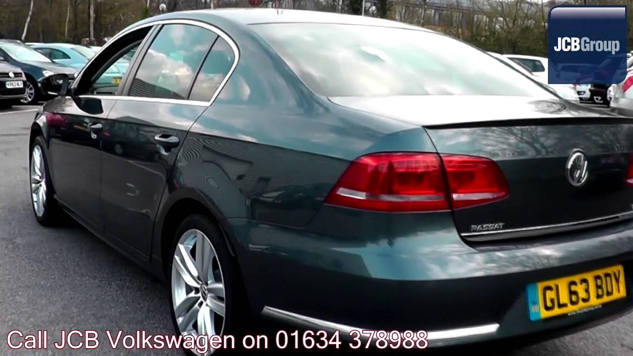 2013 Volkswagen Passat R-line 1.6 Island Grey Metallic GL63BDY for sale at JCB VW Medway - YouTube