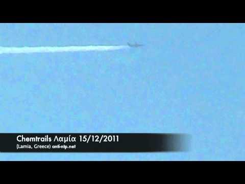 Chemtrails Λαμία  15 12 2011