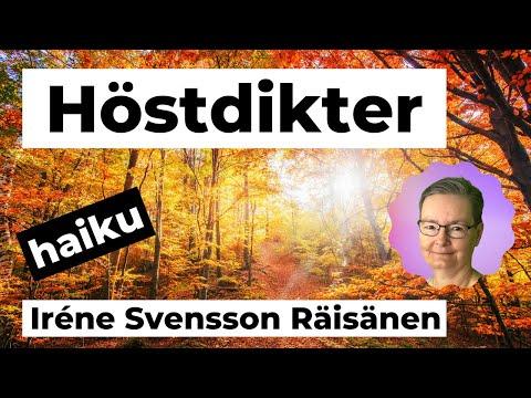 HÖSTDIKTER diktvideo av poeten Iréne Svensson Räisänen