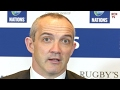Conor O'Shea Interview -  Italy Rugby Coaching Set Up