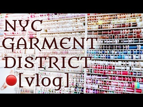 NYC Garment District | Fabric Shopping Adventure!