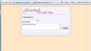 EIn Gästebuch mit Mysql/PHP erstellen(6/10) - Tutorial von Webseiten mit PHP