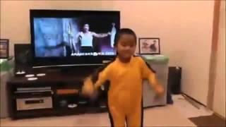 "Baby ""Bruce Lee"" kid kills it"