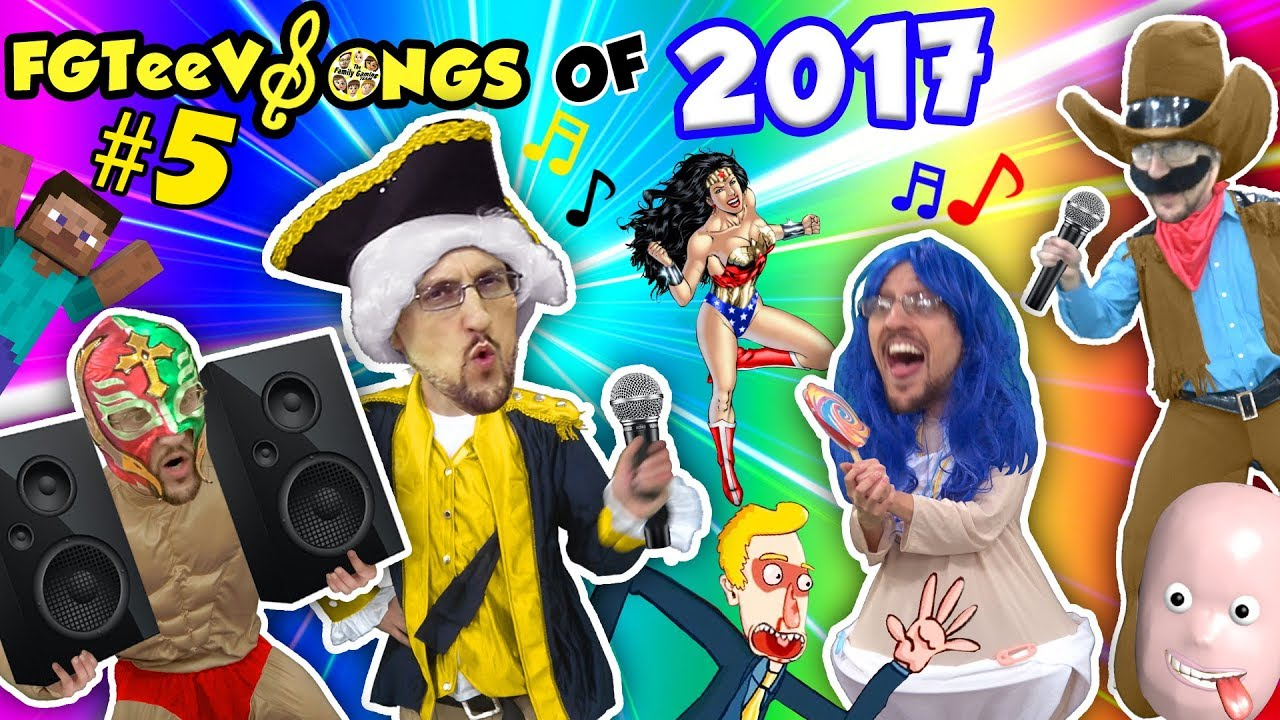 Fgteev Songs Of 2017 Finale W Gummy Bear Guy Redball Tabs