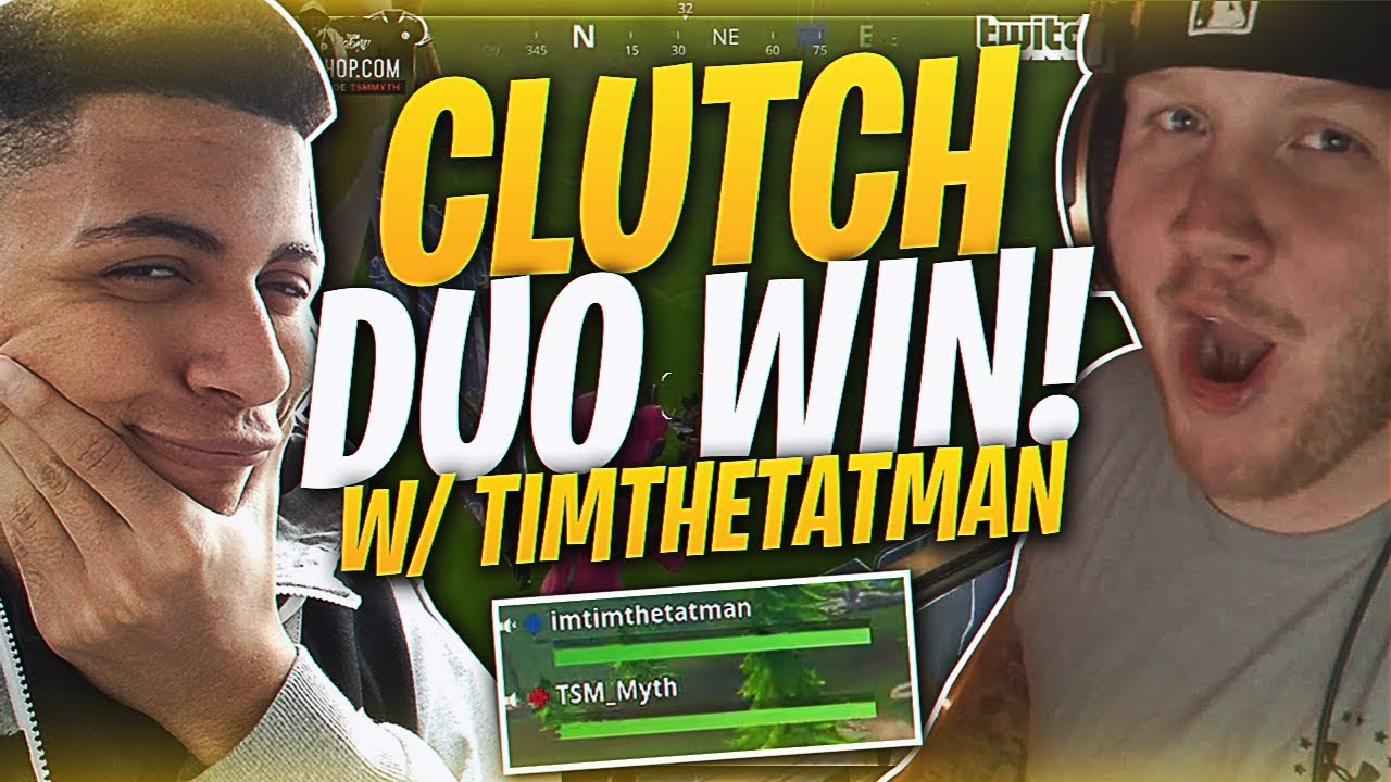 tsm myth tearing it up with timthetatman fortnite br full match - im timthetatman fortnite