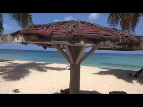 Caribbean sea of GRENADA. Beach of Grenadian by rex resort area. February 2016.