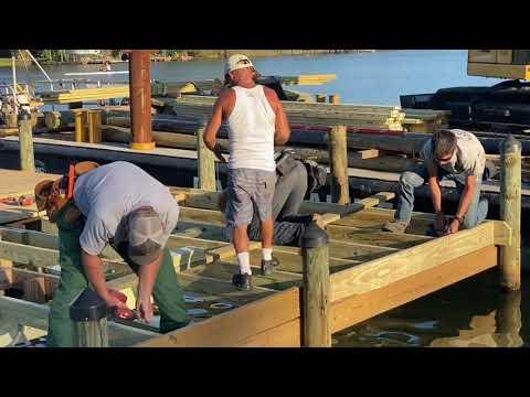 MARINE CONTRACTOR VLOG/ Dock platform remodel job