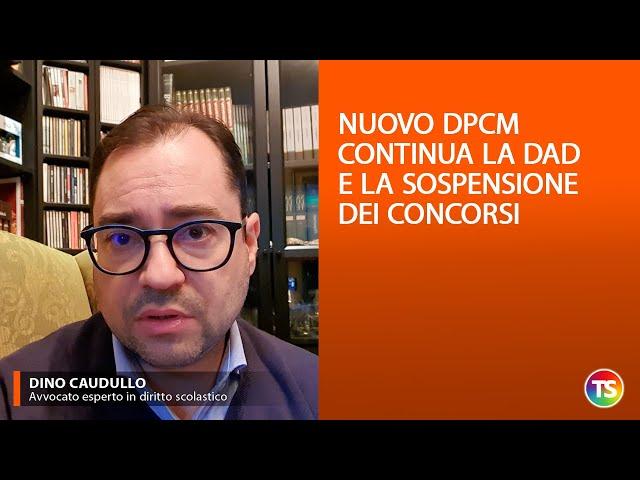 Nuovo DPCM, continua la DAD e la sospensione dei concorsi