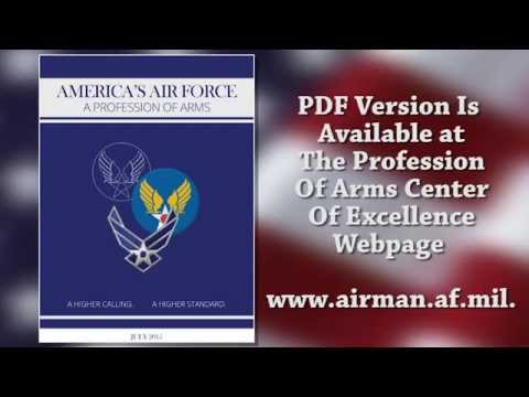 "The Little Blue Book, ""America's Air Force:  A Profession of Arms,"""