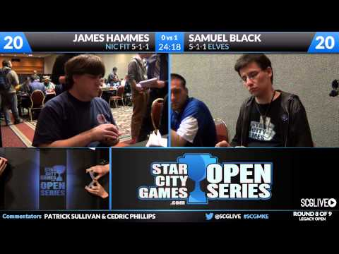 SCGMKE - Legacy - Round 8 - Sam Black vs James Hammes