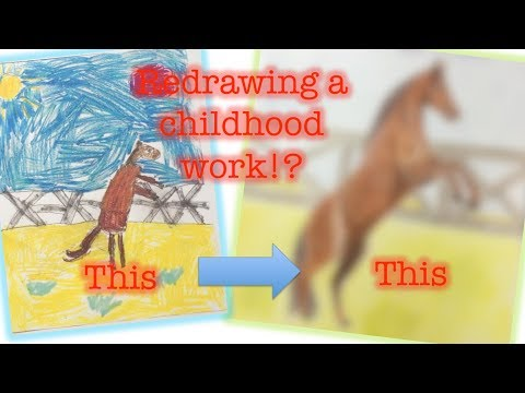 REDRAWING CHILDHOOD ARTWORK!! |Super fun!|