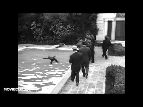 Sunset Blvd  1 8 Movie CLIP   Floating in a Pool 1950 HD