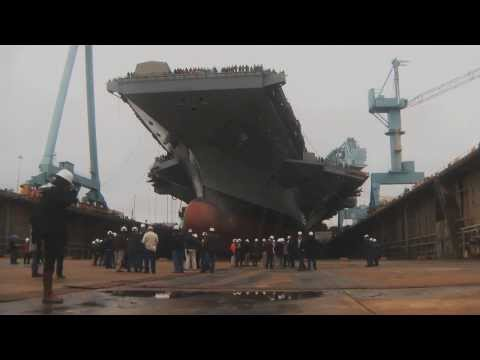 Dry Dock 12 Flooded at Newport News Shipbuilding