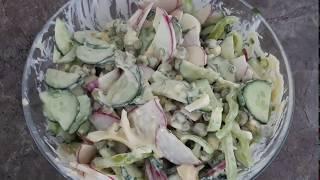 Салат на скорую руку//вкусно просто и полезно
