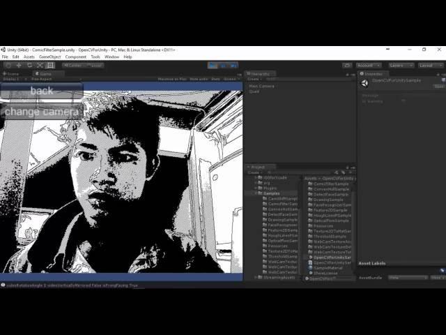 Demo Opencv Unity3d