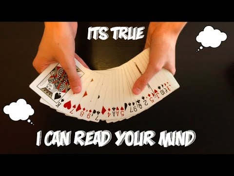 Very Cool Mind Reading Card Trick Performance And Tutorial