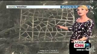 CNN  -  Ufo?... Imágenes de satélite de espionaje en el interior del desierto de Gobie - China