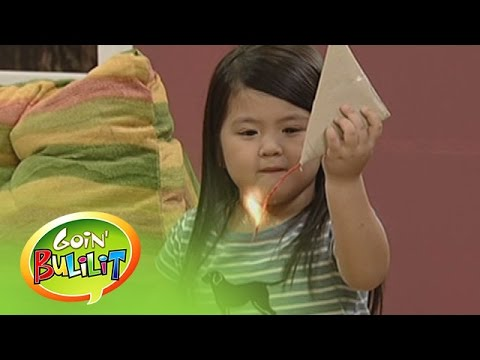 Goin' Bulilit: Chuchay's 5-star firecracker: Chuchay attempted to play with a 5-star firecracker inside their house.  Subscribe to ABS-CBN Entertainment channel! - http://bit.ly/ABS-CBNEntertainment  Watch the full episodes of Goin' Bulilit on TFC.TV   http://bit.ly/GoinBulilit-TFCTV and on IWANT.TV for Philippine viewers, click:  http://bit.ly/GoinBulilit-IWANTV  Visit our official website!  http://www.abs-cbn.com http://www.push.com.ph  Facebook: http://www.facebook.com/ABSCBNnetwork  Twitter:  https://twitter.com/ABSCBN https://twitter.com/abscbndotcom Instagram: http://instagram.com/abscbnonline