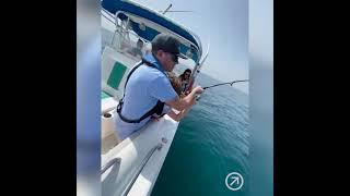 Deep Sea Fishing at Splash Boat in Dubai Морская рыбалка на лодке Splash в Дубае