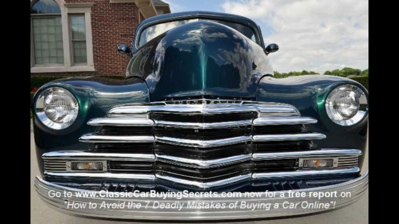 1947 Chevy Fleetline Street Rod Classic Muscle Car For