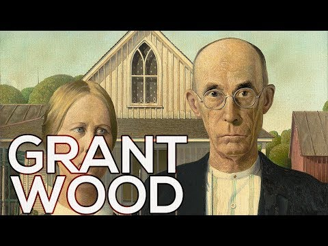 Grant Wood: A collection of 87 works (HD)