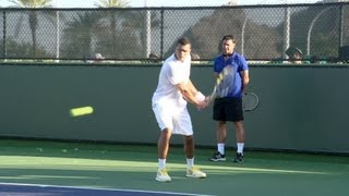 Jo-Wilfried Tsonga Forehand and Backhand - Indian Wells 2013 - BNP Paribas Open