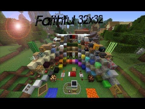Minecraft 1.7 TexturePack FAITHFUL 32x32 - YouTube