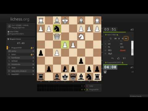 Atomic chess tournament (5+2) on lichess.org (streamed)