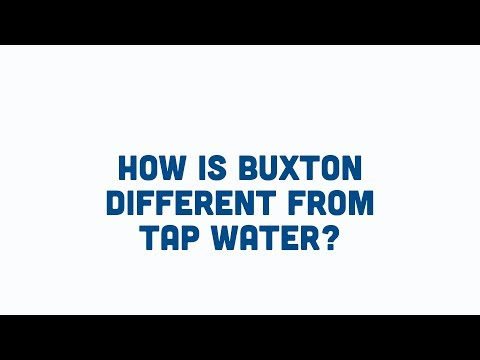 Is Our Mineral Water Different To Tap Water? | Buxton Mineral Water