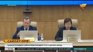 ҚР Президентінің кезектен тыс сайлауында қазақстандық сайлаушылардың 77,4% дауыс берді