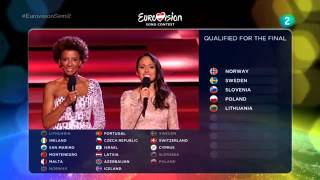 Eurovision Song Contest Semifinal 2 Qualifiers