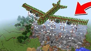 как построить работающий самолёт в Майнкрафт без модов
