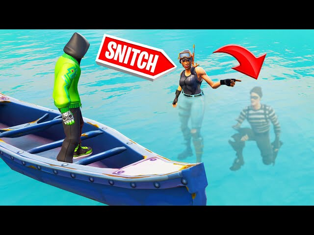 SNITCH The DIVER To WIN! (Fortnite Hide And Seek)