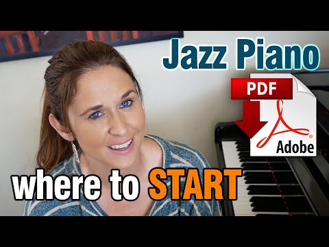 Jazz Piano: WHERE TO START (ii V7 Is with 3rds & 7s)