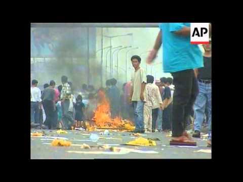 INDONESIA: JAKARTA: ELECTION CAMPAIGN: VIOLENT PROTESTS