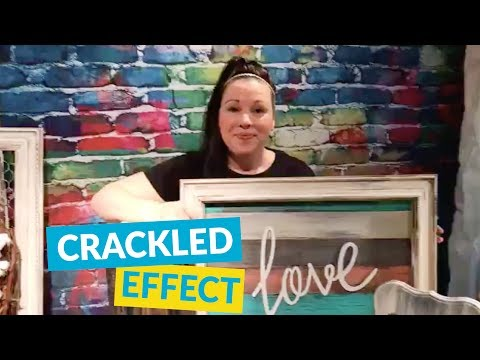 How To Get A Crackled Aged Effect!