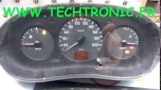 clip vidéo compteur CLIO 2 panne